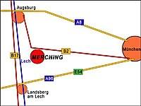 Lage von Merching